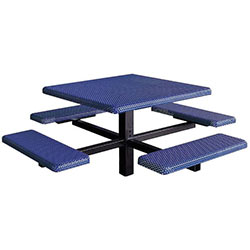 MF1060 Square 4-Bench Inground Mount ADA Compliant Table