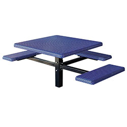 MF1061 Square 3-Bench Inground Mount ADA Compliant Table