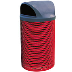 MF3020 City Steel Trash Receptacle with Plastic Dome Top