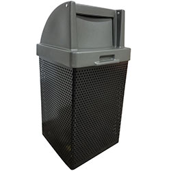 MF3052 Wausau Steel Waste Container with Plastic Push Door Top