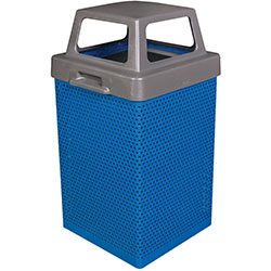 MF3053 Wausau Steel Waste Container with Plastic 4-Way Top