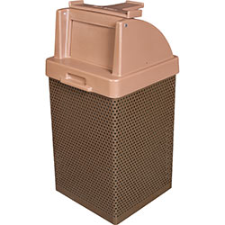 MF3055 Wausau Steel Waste Container with Plastic Push Door Tray Caddy Top