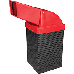 MF3056 Wausau Steel Waste Container with Plastic Drive-Thru Chute Top