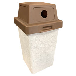 TF1012 Concrete Trash Receptacle with Recycle Plastic Top