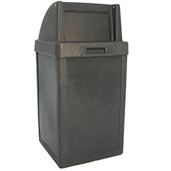 TF1014 Plastic Tuffy Waste Container with Push-Door Top