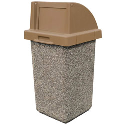 TF1015  QS Concrete Waste Container with Push-Door Plastic Top