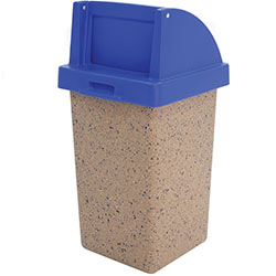 TF1015 Concrete Waste Container with Push-Door Plastic Top