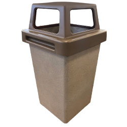 TF1016 Concrete Waste Container with 4-Way Plastic Top