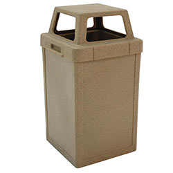 TF1019 Plastic Tuffy Waste Container with 4-Way Top