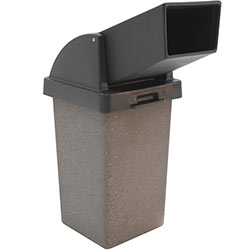 TF1021 Concrete Trash Receptacle with Drive Thru Plastic Top