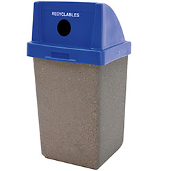 TF1028 Concrete Trash Receptacle with Recycle Plastic Top