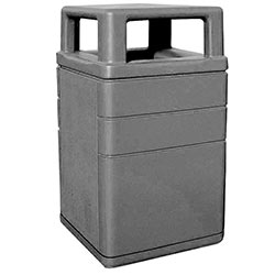 TF1050 HS Concrete Waste Container with Aluminum Side Door and 4-Way Top