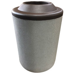 TF1083 HS Concrete Waste Container with Pitch-In Plastic Top