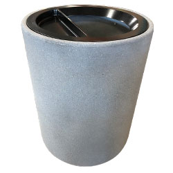 TF1086 Concrete Trash Receptacle with Aluminum Ash-n-Trash Top