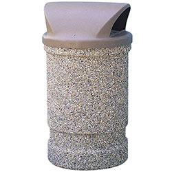 TF1130 HS Concrete Waste Container with Domed Plastic Top