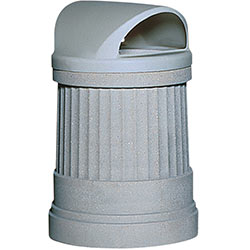 TF1191 HS Concrete Deerfield Waste Container with Domed Plastic Top
