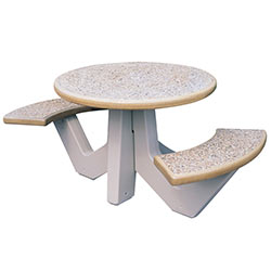 TF3110 2-Seat Round Concrete Table Set