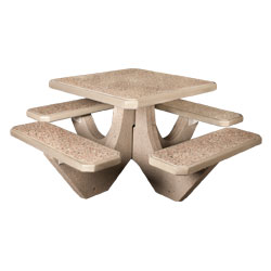 TF3120 4-Seat Square Concrete Table Set