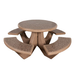 TF3125 4-Seat Round Concrete Table Set